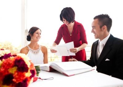 Wedding Celebrant Renee Wilkins with bride and groom